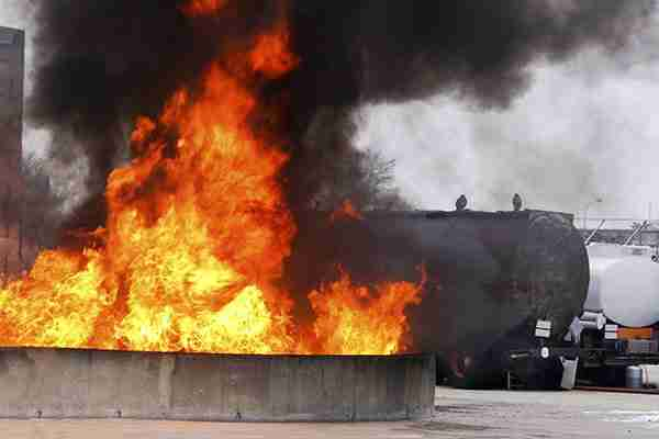 burn-injury-lawyers-fire-burning-outside-next-to-tanker